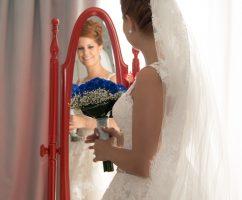 recogido novia alto con trenzados